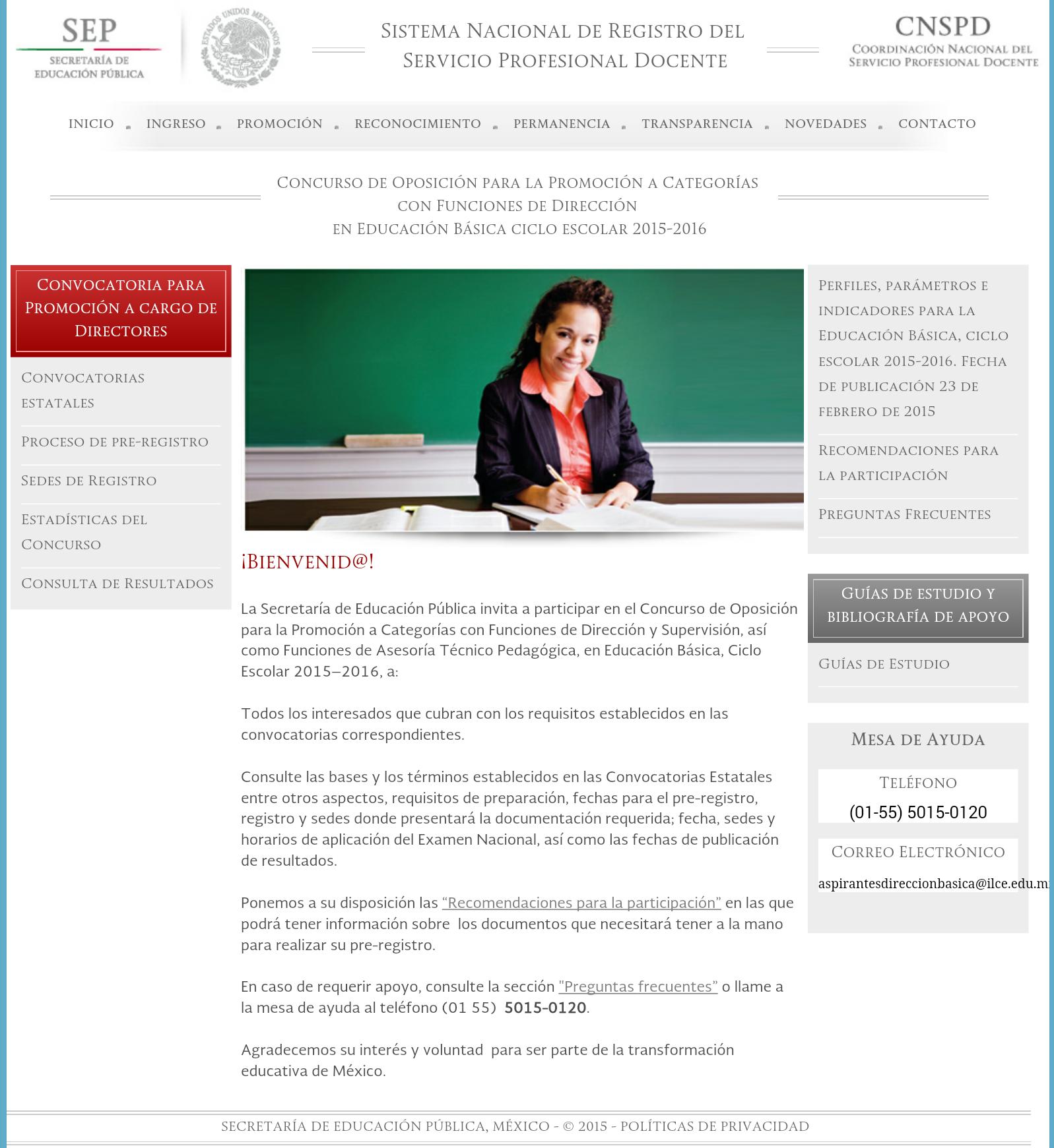 Convocatoria para el concurso de oposici n para la for Concurso meritos docentes 2016